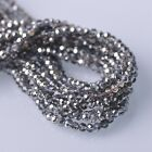 500pcs 3x2mm Rondelle Faceted Crystal Glass Loose Beads Silver&Colorized