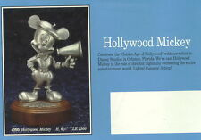 Disney Mickey Director Hollywood Pewter Figurine
