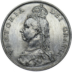 1887 FLORIN - VICTORIA BRITISH SILVER COIN