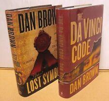 Lot 2 Dan Brown Hardcover Book Robert Langdon Da Vinci Code/The Lost Symbol