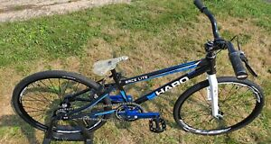 HARO RACELITE JR  CUSTOM COMPLETE BMX RACING BIKE BLACK  - ANSWER CARBON FORK