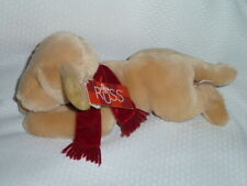 """RUSS BERRIE AMBER DOG  golden retriever puppy plush with Scarf NWT 13"""""""