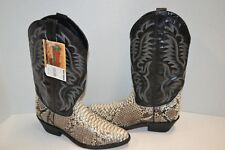 Laredo 6751 Exotic Snake $269 Black Western Cowboy Riding Boots 9 D POINTED