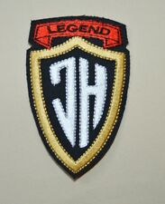 patch ,JH, la legend, johnny hallyday , broder et thermocollant 9.5/5.5cm