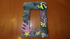 Tropical Light Switch GFI Cover Plate 3 D Deep Sea Tropical Fish theme