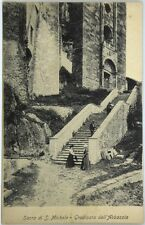 Cartolina Formato Piccolo - Sacra Di San Michele - Gradinata Dell'Abbazzia Non V