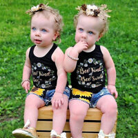 KQ_ Girls Sunflower Top Shorts Baby Toddler Girl Outfits Children Clothes Set