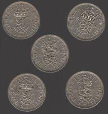 More details for elizabeth ii one shilling coins better dates | bulk coins | pennies2pounds