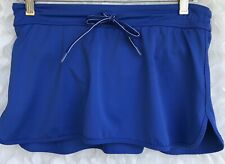 Lands End Skort Swimsuit BOTTOM Womens Size 2 Hirise Electric Blue Drawstring