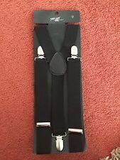 Ladies BNWT Black Braces - Sexy Smart Office Fancy Dress By NEW LOOK - One Size