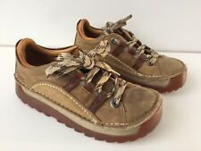 Used Women's The Art Company Brown Leather Skyline Shoes Uk4 EU37