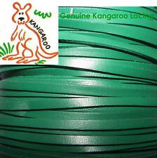 GENUINE KANGAROO LACING 3MM GREEN 5 METRES