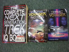 Lot of 3 star trek books voyager ragnarok gateways next generation IQ book