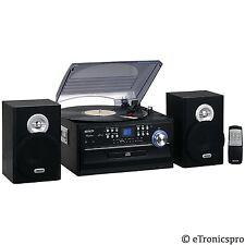 JENSEN CD CASSETTE AM/FM RADIO 3-SPEED RECORD PLAYER TURNTABLE SYSTEM NEW