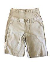 2 Pairs Cat & Jack Boys Uniform School Shorts Adjustable Waist Stretch Size 16
