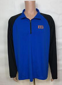 Bear Grylls Long Sleeve Technical BG TECH 1/4 Zip Blue Shirt by Craghoppers XXL