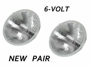 2 Sealed Beam Headlight Bulbs 6V 1940-1955 DeSoto & Plymouth 6 VOLT NEW PAIR