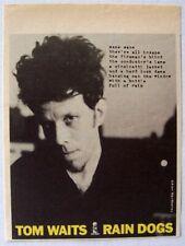 TOM WAITS 1985 ADVERT RAIN DOGS