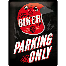 Nostalgic Art Blechschild BIKER PARKING ONLY Two Wheels Forever 30 x 40 cm *