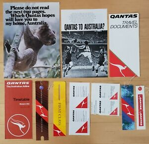 QANTAS AIRLINES - MEMORABILIA LOT - 10 ITEMS