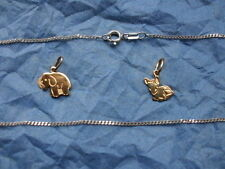 "3)   1 Kettenanhänger  "" Elefant  Echt - Silber  925, gepunzt, ohne Kette ..."