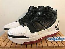2005 Vintage Nike Zoom Lebron III 3 OG White Black Varsity Crimson US Size 8.5