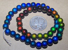 a STRAND of 50 - 6mm Round Micro Mood / Mirage Beads  - 1.5mm Hole