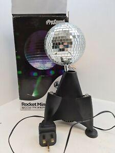 PROSOUND rocket Mirror Ball party led light lighting rrp £40 (R179)