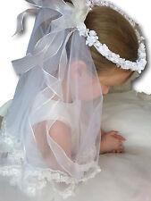 blanc filles voile Accessoires mariage, confirmation Sainte Communion