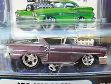 Muscle Machines - (1958 Chevrolet) '58 Impala - Supercharged - 1/64 Diecast