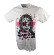 Bret Hitman Hart Legends Collection WWE Mens White T-shirt