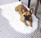 2 Pk LuxeLife White Faux Sheepskin Rugs Chair Cover Seat Shaggy or Bedroom Sofa