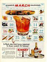 1947 ORIGINAL VINTAGE KINSEY WHISKEY ALCOHOL MAGAZINE AD