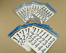 "NEW LARGE Lot 2"" The Hillman Group Die-Cut NUMBERS & Letters Black 847004 842284"