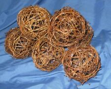 DISNEY PARKS & RESORTS Original Prop ~Garden / Topiary Wicker Ball Lot of 7