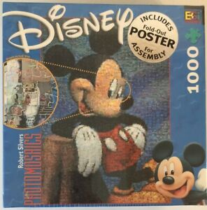 Disney Photomosaics Mickey Mouse 1026 piece puzzle with poster BRAND NEW SEALED