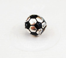 Genuine Pandora Black Soccer Ball Charm  - 790406 - retired
