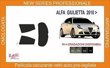 pellicola oscurante vetri alfa romeo giulietta 5 p dal 2010 in poi kit post