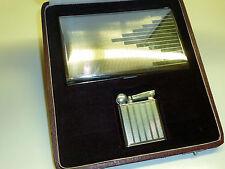 FLAMIDOR President ART DECO LIGHTER + cigarette case-OVP - 1930-France