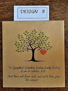 5,10,20 x Wildflower Seed ISOLATION gifts Packets - PERSONALISED Vintage favour