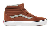 VANS MENS WARD HI OFF THE WALL HIGH TOP CANVAS TRAINERS SNEAKERS - ROSEWOOD