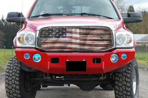 Premium Dodge Ram Old Glory Bug Screen Grill Cover - All Years Supported!