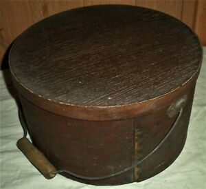 ANTIQUE c1850 PANTRY BOX ORIGINAL RED PAINT 11 3/4x6 5/8 PRIMITIVE FOLK ART vafo