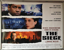 Cinema Poster: SIEGE, THE 1998 (Quad) Denzel Washington Bruce Willis