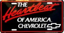 Heartbeat Of America Chevrolet Embossed Metal Novelty License Plate Tag
