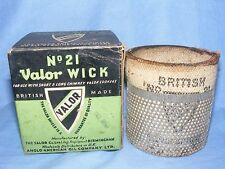 Valor Wick no 21 In Original Box Paraffin Lamp Oil Lamp Wick