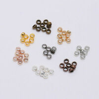 500pcs/Pack Crimp End Finding Stopper Spacer Beads For Jewelry Making