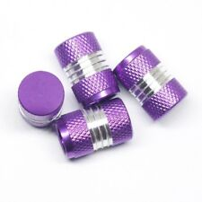 4pcs Purple Anti-slip Valve Stem Cover Rubber Ring Seal Vehicle Universal Wheel