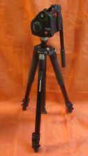 Manfrotto 055XB Black Tripod w Manfrotto 501 HDV Fluid Head  - Works Great