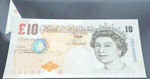 SPECTACULAR ERROR EXTRA PAPER/FISHFIN BAILEY 2004 £10 BANKNOTE UNCIRCULATED